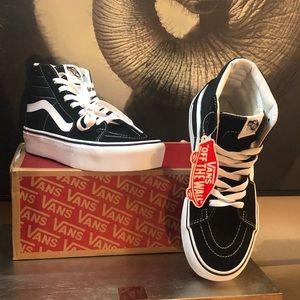 Vans Shoes - Vans SK8 Black Suede Platforms (6 Men)  womens 7.5